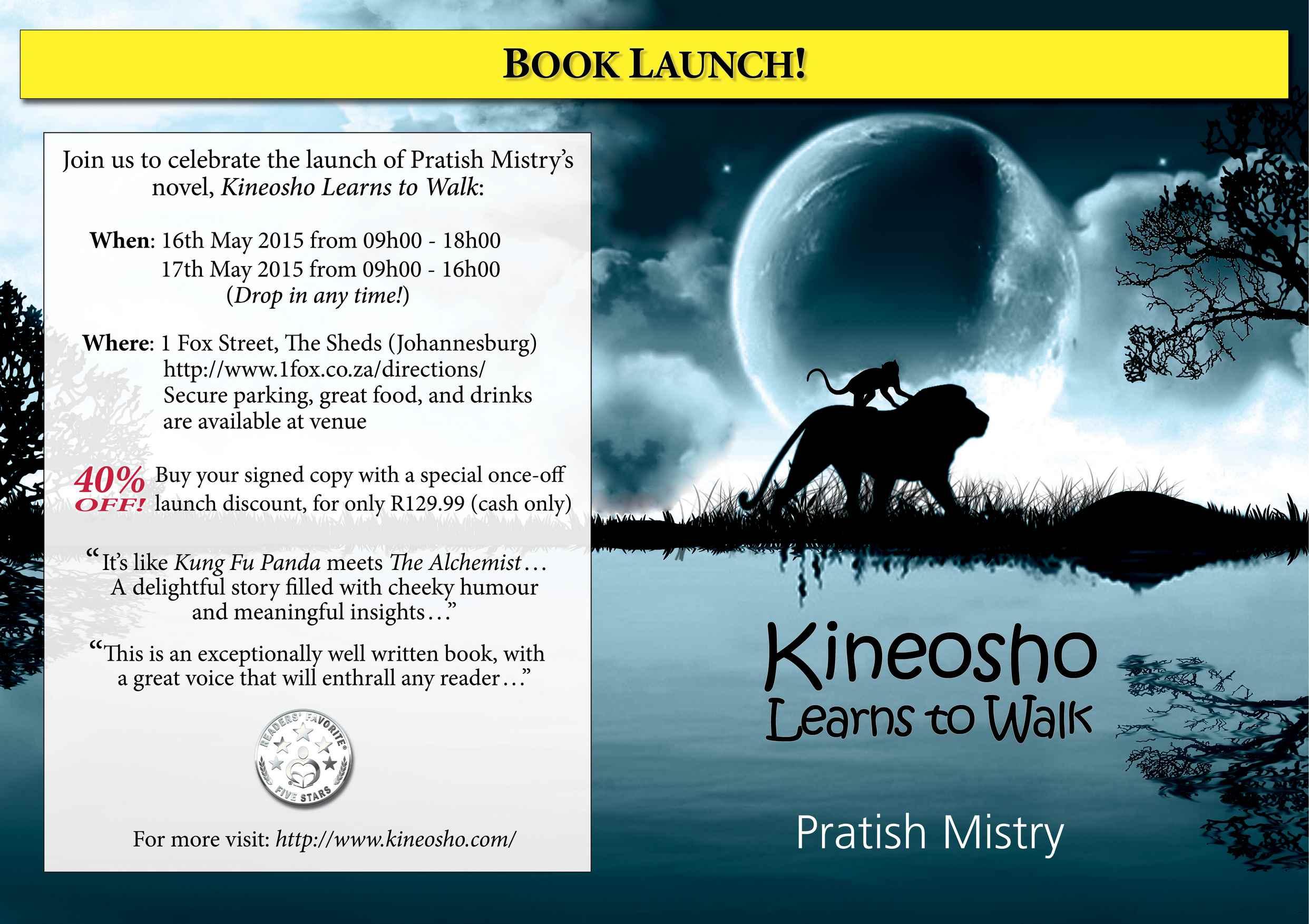 Johannesburg Book Launch flyer